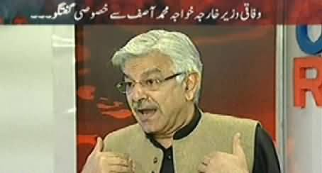 Off The Record (Khawaja Asif Exclusive Interview on Dialogues Issue) – 26th March 2014