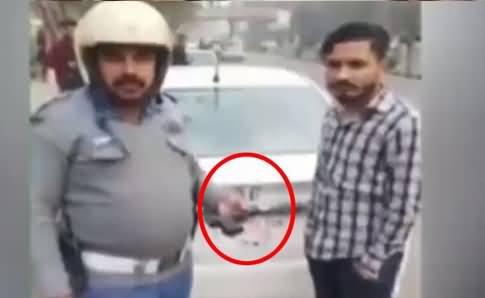 One Way Jaane Se Rokne Per Shehri Ne Traffic Warden Per Gun Taan Li