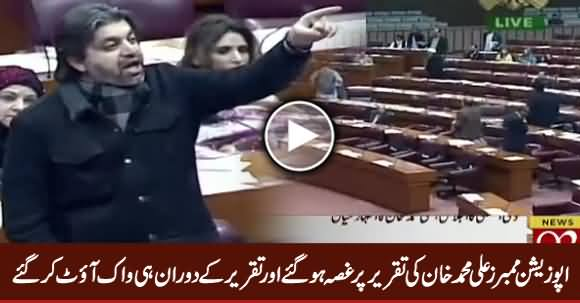 Opposition Members Got Angry on Ali Muhammad Khan's Speech & Walked Out During His Speech