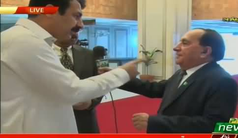 Opposition Politician Misbehaving with PTV Anchor in Front of Camera
