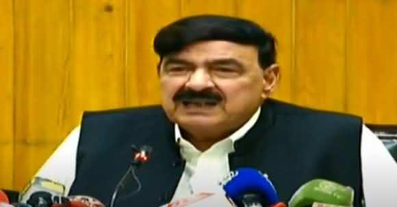 Opposition Thinking To Use Fazlur Rehman Against Govt Again - Sheikh Rasheed Media Talk