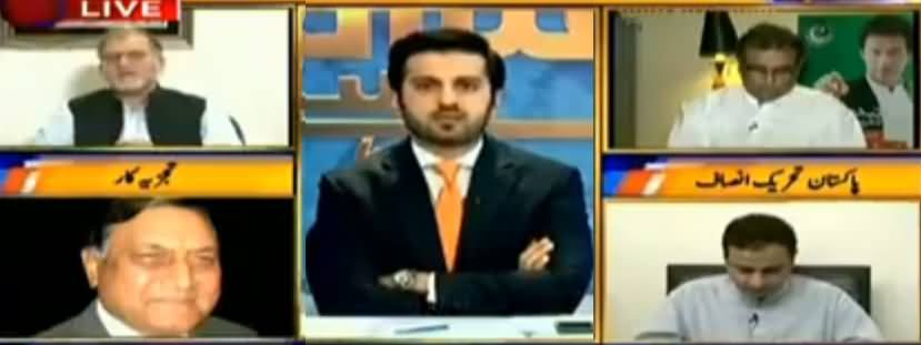 Orya Maqbool Bashing PMLN Govt For Ruckus Outside Accountability Court