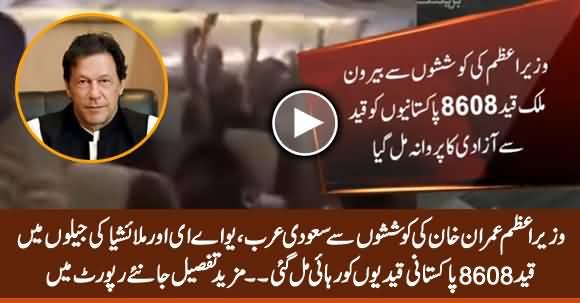 Over 8,608 Pakistani Prisoners Freed From Saudi, UAE And Malaysia Due to Imran Khan's Struggle