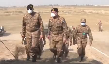 Pak Army's Military Exercises in Gujranwala & Marala - Army Chief General Bajwa Observes