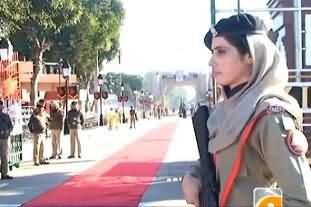 Pakistani Female Commandos Have Been Appointed At Wagah Border