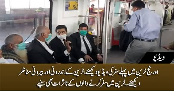 Passengers Express Their Views While Travelling in Orange Line Train