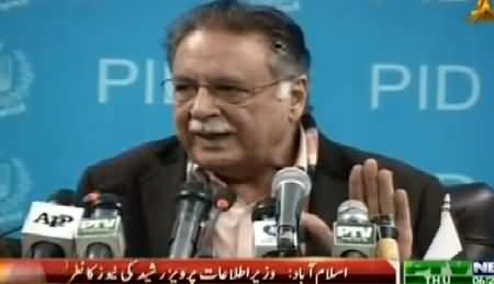 Pervaiz Rasheed Press Conference In Reply to Imran Khan – 29th January 2015