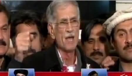Pervez Khattak Media Talk After PTI's Success in Senate Elections - 6th March 2015