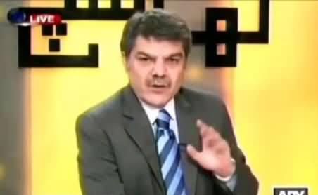 Pervez Rasheed Has Seriously Gone Mad - Mubashir Luqman Bashing Pervez Rasheed