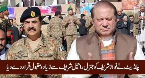 PILDAT Says Nawaz Sharif Is More Popular Than General Raheel Sharif - Ghulam Akbar
