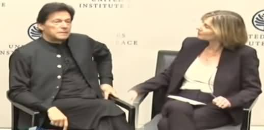 PM Imran Khan Answers to US Representative Questions at United States Institute of Peace
