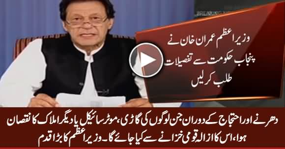 PM Imran Khan Orders Financial Compensation Package for Affectees of TLP Protest