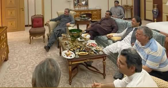 PM Imran Khan Shares His Pictures Watching Pakistan India Cricket Match