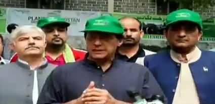 PM Imran Khan talks to media after inauguration of Plant For Pakistan campaign