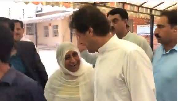 Pm Imran Khan Visits PIMS Hospital, A Woman Talked To PM, Listen What She Said
