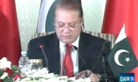 PM Nawaz Sharif Reading Each Word From Written Paper Before Chinese President