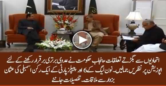 PML-N's 6, PPP's 1 Member Assembly Meet CM Punjab Usman Buzdar