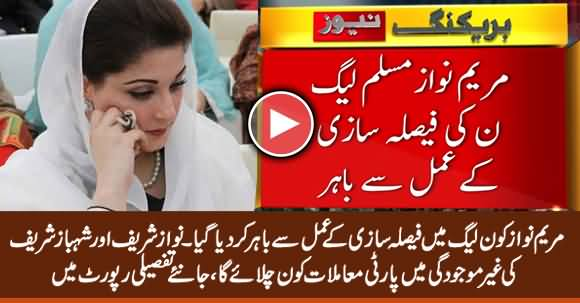 PMLN Decides to Remove Maryam Nawaz From the Decisions Committee