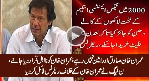 PMLN Files Reference Against Imran Khan To Get Him Disqualified