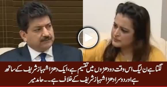PMLN Is Divided Into Two Groups, One Group Is Pro Shahbaz & The Other Is Anti Shahbaz - Hamid Mir