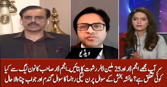 PMLN Leader Distraught And Has No Clue Of Ayesha Bakhsh's Question Regarding Anjum Dar
