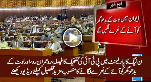 PMLN MNAs Decide To Give Tough Time To PTI in Parliament, Will Chant Ro Imran Ro