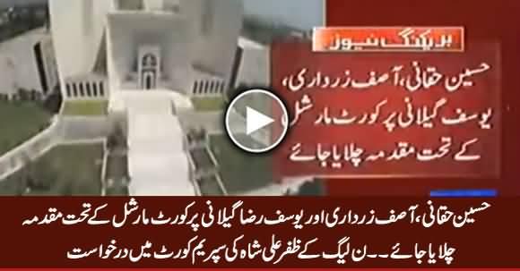 PMLN's Zafar Ali Shah Filed Petition in SC Against Hussain Haqqani, Asif Zardari & Yousaf Raza Gillani