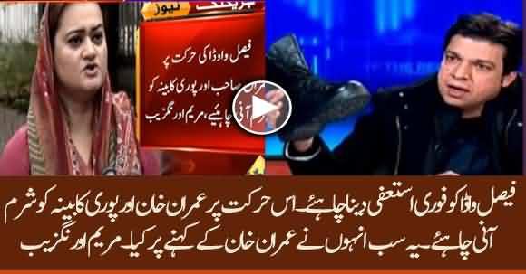 PMLN Spokesperson Marriyum Aurangzeb Demands Resignation Of Faisal Vawda Immediately