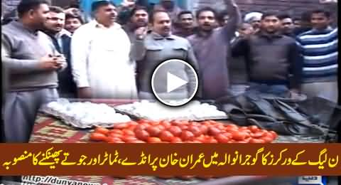 PMLN Workers Plan to Throw Tomatoes, Eggs and Shoes on Imran Khan in Gujranwala