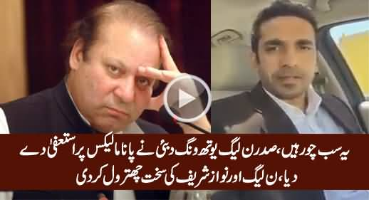 PMLN Youth Wing President Dubai Resigns Over Panama Leaks & Bashes PMLN