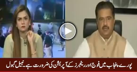 Poore Punjab Mein Fauj Aur Rangers Ke Operation Ki Zarorat Hai - Nabil Gabol