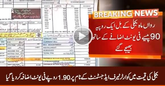 Power Tariff Increased by Rs 1.90 Per Unit, Included in Current Month Bills