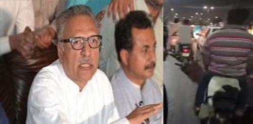 President Alvi Response On registering case against protester