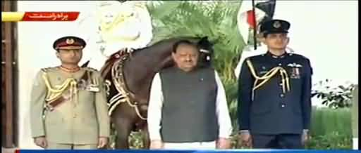 President Mamnoon Hussain receives farewell Guard of honor