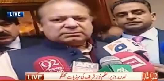 Prime Minister Nawaz Sharif Media Talk in London – 13th April 2016