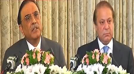Prime Minister Pakistan Nawaz Sharif and President Asif Ali Zardari Speech At Farewell Lunch - 5th September 2013