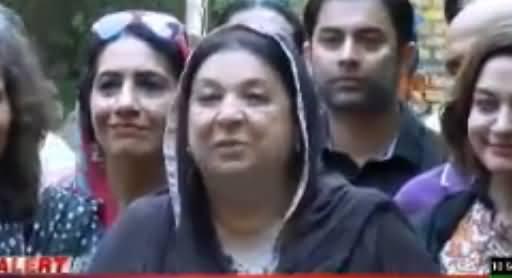 PTI Candidate Dr. Yasmin Rashid Media Talk in NA-120, Lahore