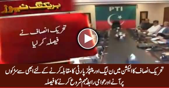 PTI Decides To Go To Masses in Punjab & Sindh To Defeat PMLN And PPP