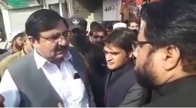 PTI Excise Minister Jamshed Khan threatening Assistant Commissioner in Nowshera