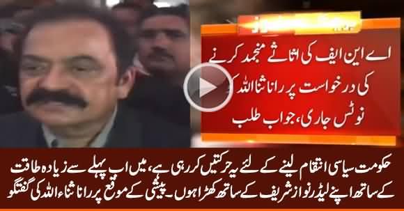 PTI Govt Is Doing Political Victimization - Rana Sanaullah Media Talk