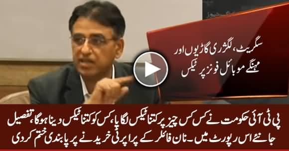 PTI Hakumat Ne Kis Kis Chez Per Kitna Tax Lagaya, Dekhiye Report