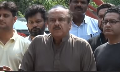 PTI Leader Naeem Ul Haque Press Conference Outside Bani Gala - 9th August 2018