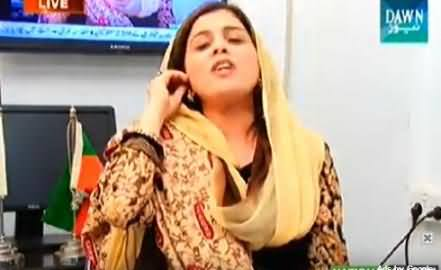 PTI Naz Baloch Left the Show As Soon As She listened the Name of MQM's Rehan Hashmi