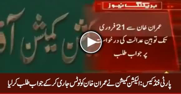 PTI Party Funds Embezzlement Case, ECP Issues Notice to Imran Khan on Contempt Plea
