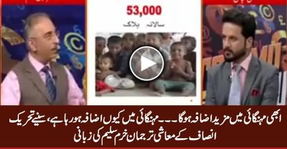 PTI's Economic Spokesperson Dr. Farrukh Saleem Telling The Reasons of Inflation