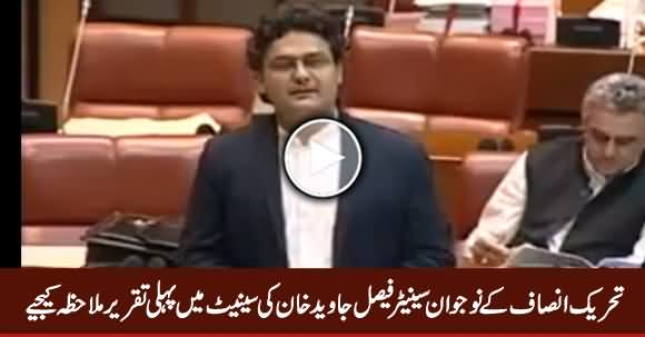 PTI Senator Faisal Javed Khan's First Speech in Senate – 2nd May 2018