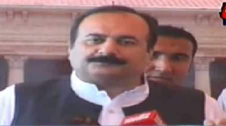 Punjab Law Minister Rana Mashood Criticizing Dr. Tahir ul Qadri and Chaudhry Brothers