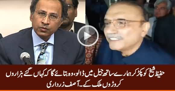 Put Hafeez Sheikh in Jail With Us, He Will Tell Where Is The Looted Money - Asif Zardari