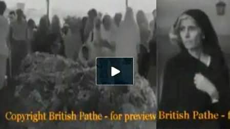 Quaid e Azam's Funeral Video First Time Came on Media - Rare Video