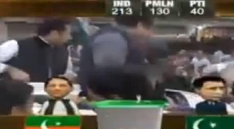 Rana Mashood Celebrating PMLN Win in Advance And Distributing Suparis